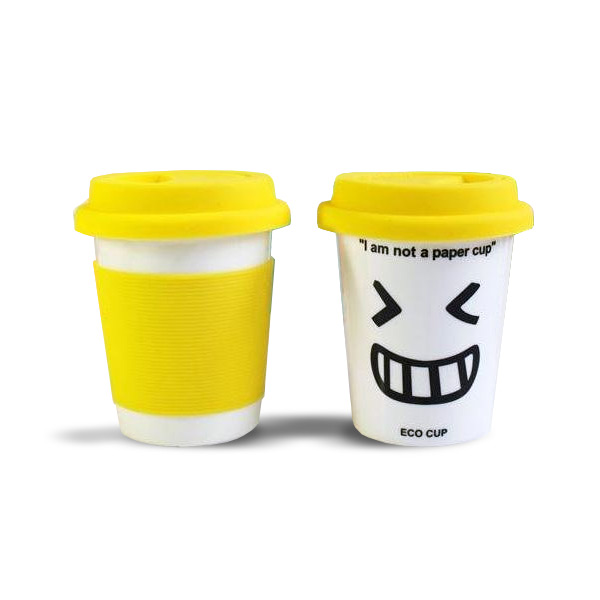 'I Am Not a Paper Cup' - Thermal Porcelain Mug (230ml) - Yellow