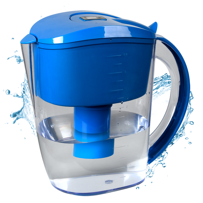 Alkaline Water Filter Pitcher (Blue)